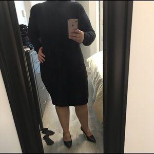 Dresses & Skirts - Holt Renfrew turtle neck ballon sleeves wool dress